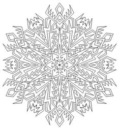 Snowflake Mandala Coloring Pages | Printable Coloring Pages ...