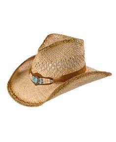 7a995257817 Shady Brady Beaded Suede Band Raffia Straw Cowgirl Hat Western Hats