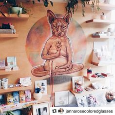 Check meow't @jennarosecoloredglasses new blog about her visit to our Cat Lounge! Our #kitteacats sure thought she was pawesome 😻 #cute #cats #catcafe #sanfrancisco #sundayfunday