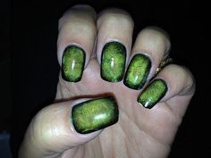 Simple Zombie Halloween Nail Art