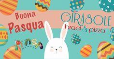 Informiamo la gentile clientela che resteremo chiusi a Pasqua e saremo aperti a Pasquetta.  Lo Staff del Girasole braci & pizza vi augura una felice e serena Pasqua!!!