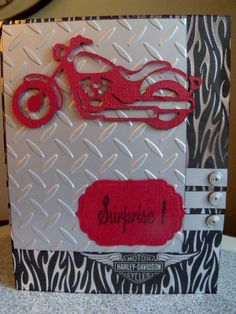 cricut motorcycle card | Check out my blog for more pics and details about the card.