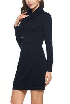 e761fd92d49 Terryfy Damen Knielang Kleid Elegant Langarm Gestreift Mini Strickkleid  Streetwear Pullover  - Winter Outfits Frauen Schnee M…