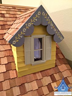 Close up of the outside of the Dormer Window. Dormer Windows, Dollhouse Kits, House Roof, Kit Homes, Doll Houses, Cottages, House Ideas, Miniatures, Dreams