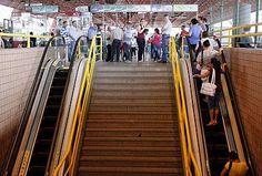 Novas escadas rolantes entram em funcionamento no Terminal Central