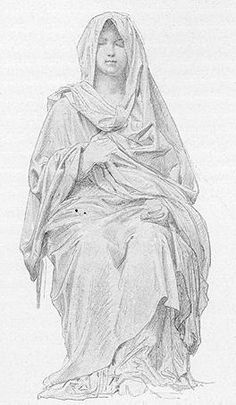 William Adolphe Bouguereau drawing