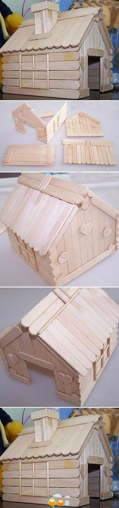 could be used to make a wood stick gingerbread house: