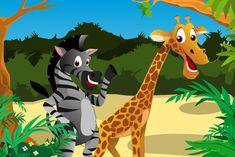 DOÑA CEBRA Y DOÑA JIRAFA - fábula Scooby Doo, Activities, Ideas Para, Fictional Characters, Safari, Art, Children's Literature, Animales, Animals Of The Rainforest