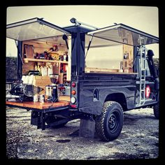 Voldaancoffee.com Mobile Coffee Land Rover.... We need to do this @Sarah Leslie