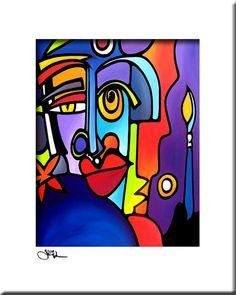 Abstract schilderij moderne pop Art afdrukken door fidostudio