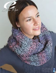 Textured Infinity Scarf in Ella Rae Twist - ER12-01 - Downloadable PDF. Discover more patterns by Ella Rae at LoveKnitting. We stock patterns, yarn, needles and books from all of your favourite brands.