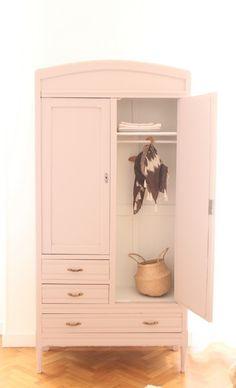 armoire chambre enfant vieux rose penderie TRENDY LITTLE 1 | Kid\'s ...