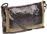 Whiting & Davis The Edge Crossbody Cross Body,Gunmetal,One Size Mini Crossbody Bag, Tote Bag, Cross Body Handbags, Evening Bags, Louis Vuitton Damier, Purses, My Style, Pattern, Stuff To Buy