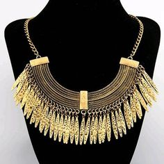 Gold Colored Bohemian Styled Necklace!!