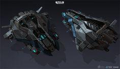 star-conflict Jericho ships by Vadzim Makaranka on ArtStation. Space Ship Concept Art, Concept Ships, Spaceship Art, Spaceship Design, Sci Fi Anime, Gun Turret, Starship Concept, Sci Fi Spaceships, Accel World