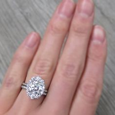 Moissanite Engagement Ring Set White Gold Moissanite Ring Floral Engagement Ring with Matching Diamond Band - Fine Jewelry Ideas Floral Engagement Ring, Engagement Ring Settings, Vintage Engagement Rings, Diamond Engagement Rings, Halo Engagement, Gold Diamond Wedding Band, Diamond Bands, Wedding Bands, Wedding Fun