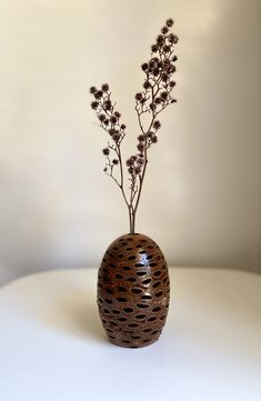 Banksia Seed Pod Vase   Turned to highlight the beautiful textures and natural attributes of the Banksia pod