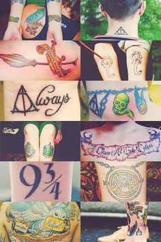 Gorgeous Harry Potter tattoos