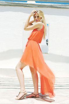 amazing orange dress