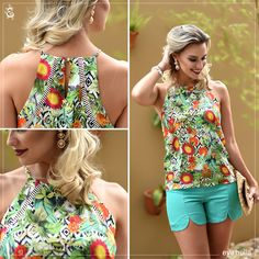 Short Outfits, Summer Outfits, Casual Outfits, Cute Outfits, Floral Fashion, Trendy Fashion, Womens Fashion, Fashion Design, Moda Floral