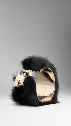 Mink Detail Metal Cuff | Burberry
