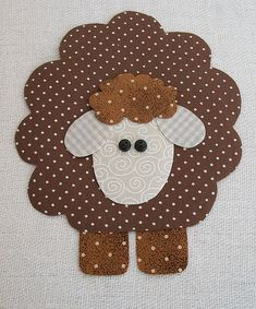 Little sheep paper craft Applique Templates, Applique Patterns, Applique Quilts, Applique Designs, Embroidery Applique, Baby Applique, Applique Ideas, Sheep Crafts, Felt Crafts