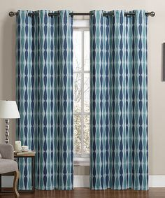 Love This Teal Blue Monsoon Blackout Curtain Panel   Set Of Two By Victoria  Classics On