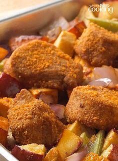 Tuscan Roasted Vegetable & Pork Tenderloin Bake #recipe