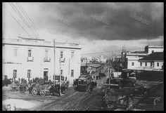 Akti Miaouli around Piraeus, Greece Greece Pictures, Old Pictures, Old Photos, Vintage Photos, Athens Greece, Old City, Nostalgia, The Past, Greek