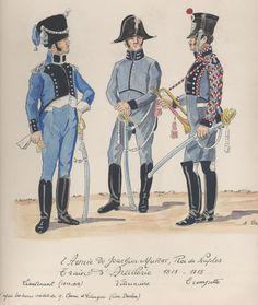 l'Armée de Joachim Murat, roi de Naples Train d'Artillerie 1813-15 Lieutenant (1813-1814) Vétérinaire Trompette