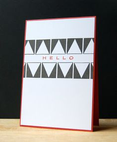 Triangle Hello Card by Cristina Kowalczyk for Papertrey Ink (January 2013)