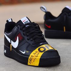 *Product Name*:- Nike Air Force Utility Off White Edition lbs Ring System). Nike Shoes Photo, Nike Air Shoes, Nike Shoes Outlet, Sneakers Fashion, Fashion Shoes, Shoes Sneakers, Cheap Fashion, Casual Sneakers, Fashion Men