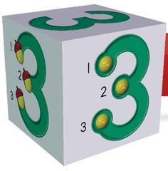 This is a touch math dice freebie! Students can create their own cubes, and they exist for each number. This can help students for touching and counting patterns. A physical tool can help students a lot! Touch Math, Touch Point Math, Preschool Math, Kindergarten Math, Fun Math, Math Activities, Math Games, Montessori, Math Classroom Decorations