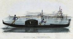 Gondola veneziana (National Library of Poland - 1847, lithography)