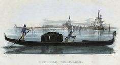 Gondola veneziana (National Library of Poland - 1847, lithography)