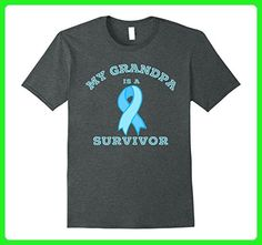 Mens Cancer Hero - My Grandpa is a Prostate Cancer Survivor Shirt Medium Dark Heather - Relatives and family shirts (*Amazon Partner-Link)