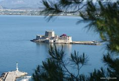 View of from the terrace of Nafplia Palace Hotel, - Palace Hotel, Opera House, Terrace, Greece, Building, Travel, Balcony, Greece Country, Viajes