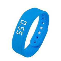 Smart Bracelet Watch Fitness Sports Activity Tracker Waterproof Pedometer Calorie Bracelet, No need to install app Not have Bluetooth, Especially Good for Children, Students, Blue >>> Want to know more, click on the image. (This is an affiliate link) #FitnessTracker