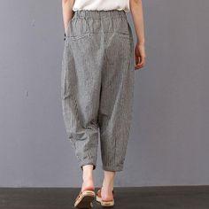 03908e848278 Summer Women Casual Stripe Long Gray Pants – Babakud