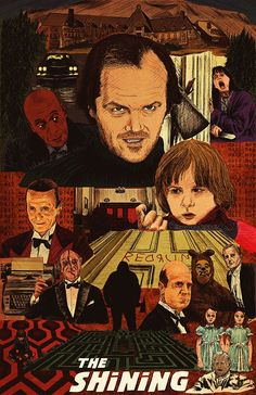 "Stanley Kubrick -  ""The Shining Movie Poster"" by Michael DeNicola"
