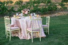 Vintage pink wedding reception | Martina Micko Photography | see more on: http://burnettsboards.com/2015/03/romantic-vintage-vineyard-wedding/