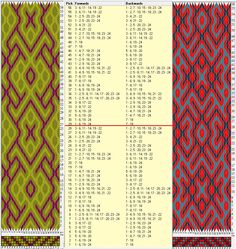 Enhebrado opuesto, movimientos coincidentes // 24 tarjetas, 3 colores, repite cada 28 movimientos // sed_864 &sed_864a diseñado en GTT༺❁