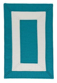 "Colonial Mills Collection 14 Cb92 1'10"" x 2'10"" Turquoise / White Area Rug by Colonial Mills. $92.00. A simple bordered design is brought to life with a splash of color. Whether it's a living room, bedroom, children's room or any outdoor setting this collection promises to add simple style to any indoor or outdoor decor. A super srtong Cablelock construction, combind with premium 100% polypropylene stain, fade and mildew resistant yarns ensure lasting durability ..."