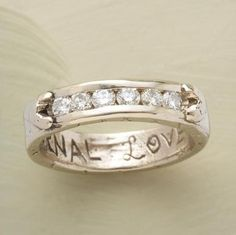 """<3 Diamond Eternal Love Ring! <3 this. inscribed with """"eternal love""""."""