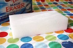 20 ways to use a magic eraser/ I LOVE THESE ERASERS....