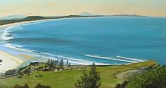 Main beach, the Nobby and golf course - arial view