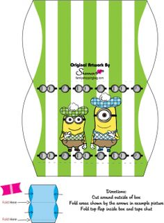 Free Printable Minion Pillow Favor Box