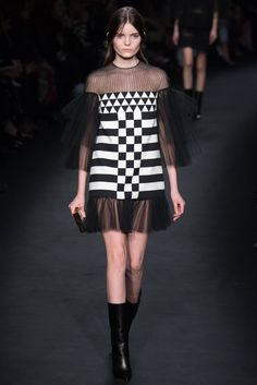 #fashion editorials, shows, campaigns & more!: #valentino F/W 2015.16 #paris #couture #pfw #runway #black  #bw #graphic