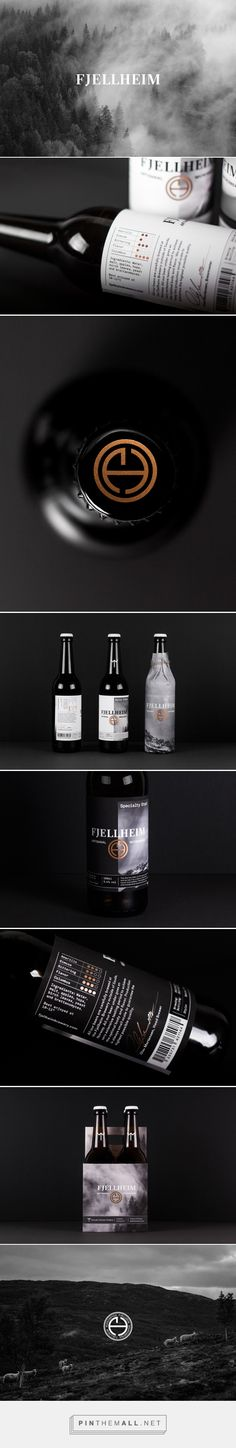 Fjellheim Brewery Specialty Stout Packaging by Erik Berger Vaage | Fivestar Branding Agency – Design and Branding Agency & Curated Inspiration Gallery