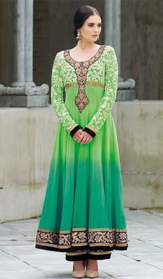 G3 Fashions Pastel green teal georgette party wear designer salwar suit  Product Code: G3-LSA107642 Price: INR RS 7542